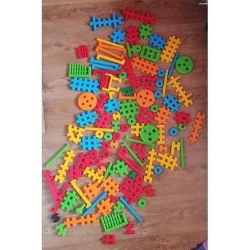 Klocki wafle konstrukcyjne mix 145 elementów