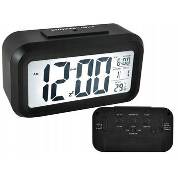 Zegar Budzik Cyfrowy Duży Wyświetlacz LED 12/24h