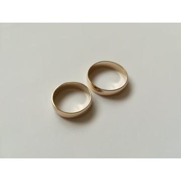 Złote obrączki półokrągłe AU585
