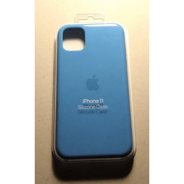 Silikonowe etui iPhone 11 Surf Blue oryginalne