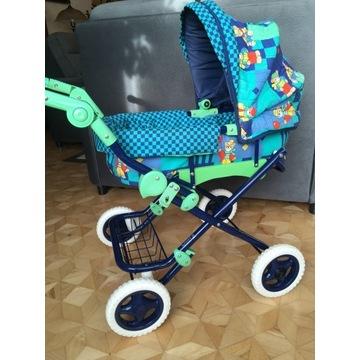 Kolorowy wózek dla lalek Knorr