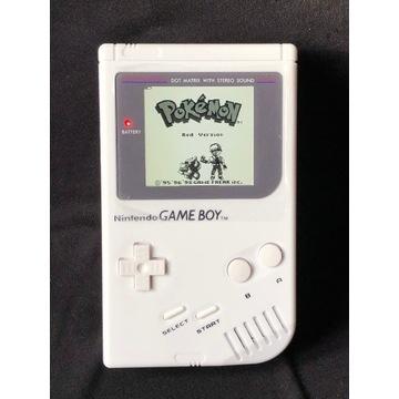 Gameboy DMG biały, wyświetlacz IPS!!