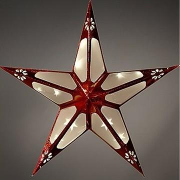 Czerwona świecąca gwiazda 55 cm, ozdoba świąteczna