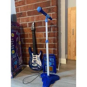 Gitara elektryczna dla dzieci+mikrofon+wzmacniacz
