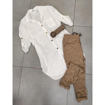Nowość ! włoska koszula - tunika 100%  len