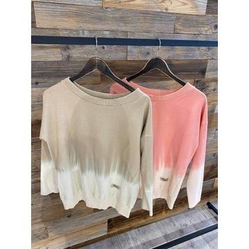 Bluza farbowan by o la la M róż ze smietana nowosc