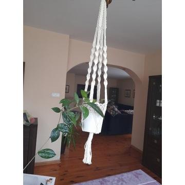 Kwietnik - makrama handmade
