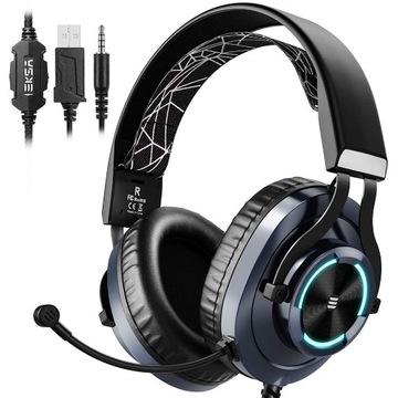 Słuchawki Eksa E3000 do konsoli ze skórzanym etui