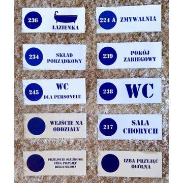 Szyld tablica PRL loft - metalowe tabliczki WC