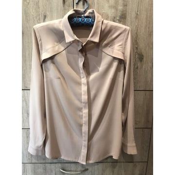 Koszula jedwabna Simple CP pudrowy róż 36