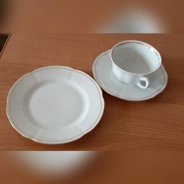 Serwis do kawy biały