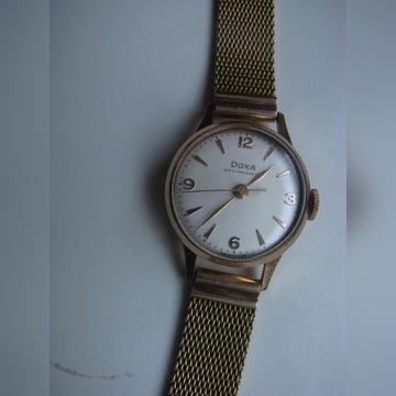 zegarek DOXA złoty +bronsoleta pr 585