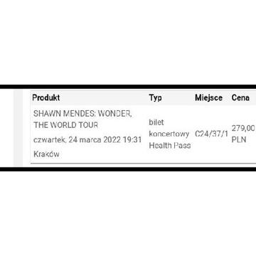 Wonder Tour bilet na koncert w Krakowie