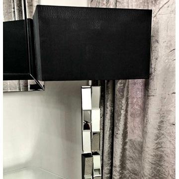 lampa podłogowa stojąca glamour szklana lustrzana