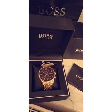 NOWY zegarek męski markowy Hugo Boss złoty
