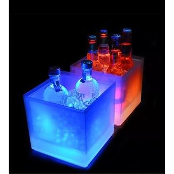 Multikolor 5l pojemnik na lód,Icebucket,cooler,led