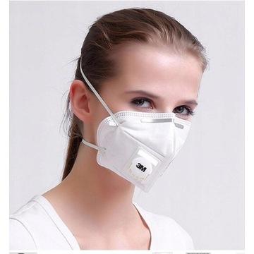 3M Maska FFP-2 maseczka zaworek 3M 9502V+ KN95