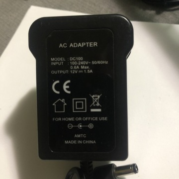 AC ADAPTER MODEL: DC100