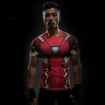 T-shirt koszulka 3d xl 2stronna superbohater
