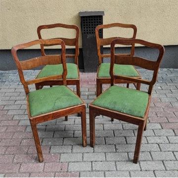 Krzesła Art Deco Lata 30 Komplet 6 sztuk Jadalnia