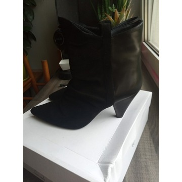 Czarne botki Gino Rossi, rozmiar 40