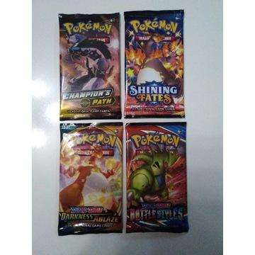 Karty Pokemon zestaw 4 boostery