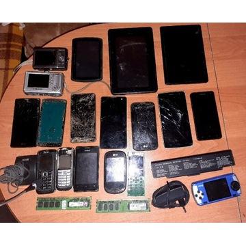 Zestaw elektroniki telefony tablety nawigacja itp
