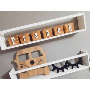 Klocki drewniane literki/cyferki/ imię dziecka