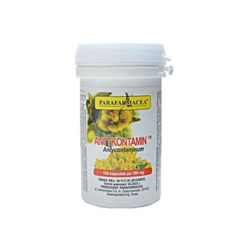Antykontamin na pasożyty robaki 150 kaps po 100 mg