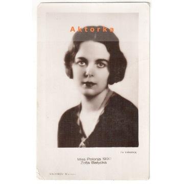Zofja Batycka -Miss Polonja 1930