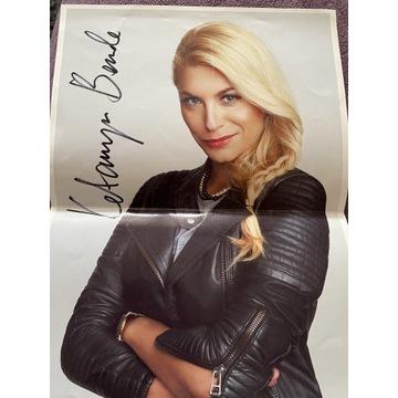Oryginalny autograf Katarzyny Bondy