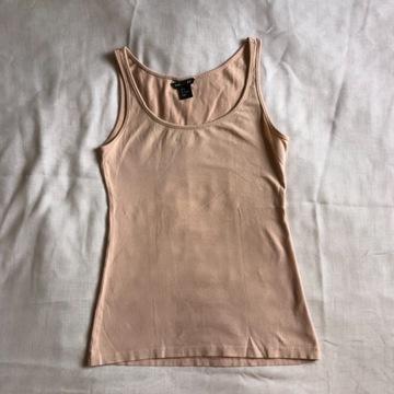H&M hm nowy top różowy pudrowy róż basic bluzka