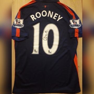Koszulka meczowa Manchester United Rooney autograf