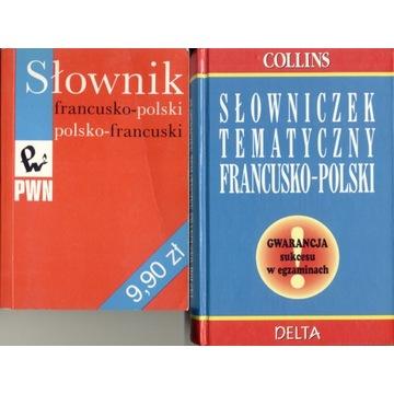Słownik Francusko Polski Tematyczny 2 x st. bdb