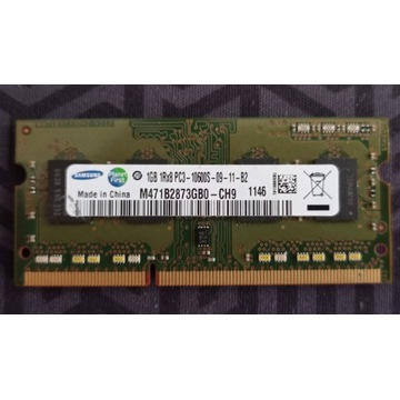 DDR3 SAMSUNG 1GB 1Rx8 PC3-10600S-09-11-B2