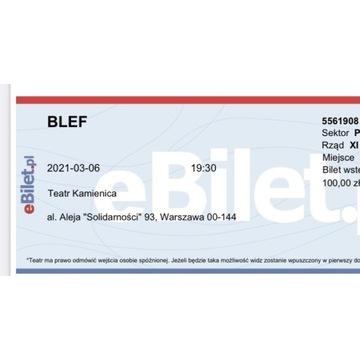 Bilet do teatru spektakl BLEF