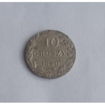10  GROSZY  1840  SKRĘTKA