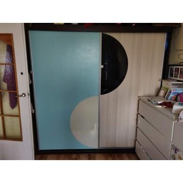 Duża szafa pojemna 200 x 200 x 60 przesuwne drzwi