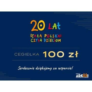 Cegiełka 100 zł + upominki (książka i koszulka)