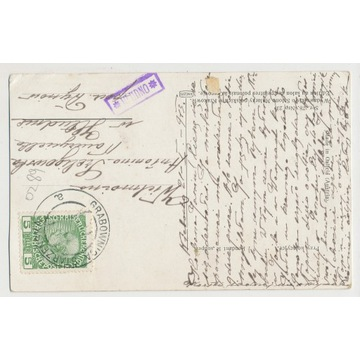 Agencja Hłudno poczta Dynów podkarpackie 1913 O289