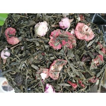 Herbata zielona Truskawki w Szampanie 100g