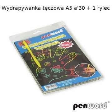 Kolorowanka Wydrapywanka tęczowa A5 30stron