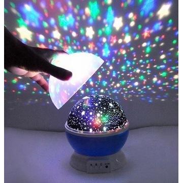 Projektor gwiazd lampka nocna