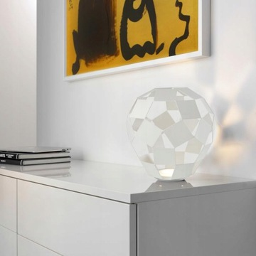 Lampa stojąca SOMPEX Belly biała dzieło sztuki LED
