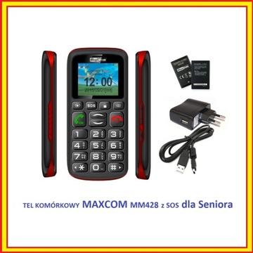 TEL KOMÓRKOWY MAXCOM MM428 z SOS dla Seniora