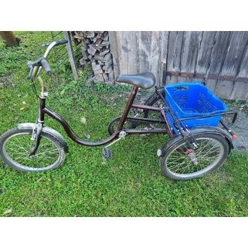 Rower trójkołowy dla seniora dziadka babci