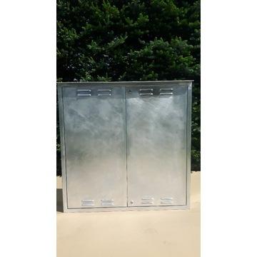 duża szafka skrzynka gazowa z blachy aluminiowej