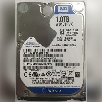 HDD WD BLUE 1TB 2.5'' (WD10JPVX) 5400RPM SATA3