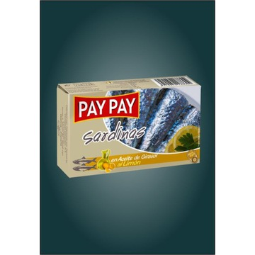 Sardynki z cytryną w oleju Pay Pay hiszpańskie