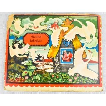 Dzikie Łabędzie książka rozkładanka 1975 WYD. ZSRR